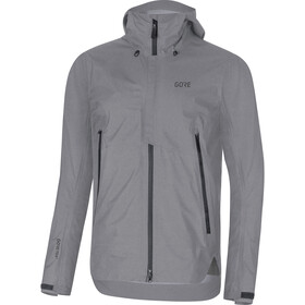 GORE WEAR H5 Gore-Tex Active Capuchon Jas Heren, terra grey